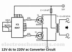 12v To 220v Converter Circuit Circuit Diagram World