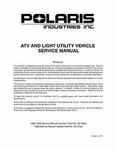1996 Polaris Sportsman 500 Service Repair Manual