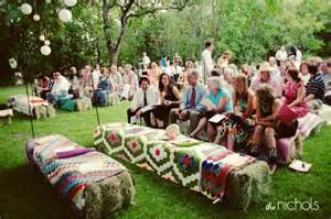 rustic kitchen decorating ideas straw bale seating for your wedding unconventional but