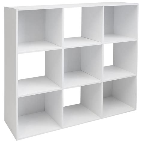 Square Shelves by Hartleys White 9 Cube Modular Square Storage Shelving 3