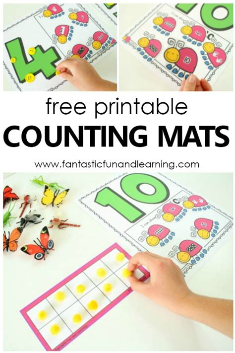 insect counting numbers math activity fantastic 998 | Free Printable Insect Counting Numbers Math Activity. Spring math for preschoolers and kindergarteners spring freebie prek kinder