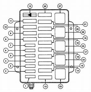 Lincoln Mark Viii  1993 - 1995  - Fuse Box Diagram