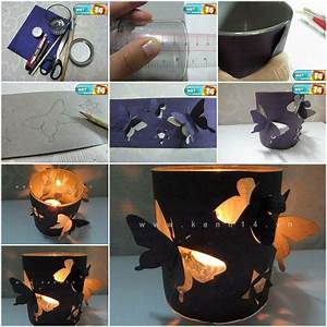 How To Make Homemade Romantic Butterfly Candle Holders