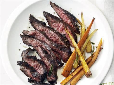 Skirt Steak With Roasted Root Vegetables Recipe Food