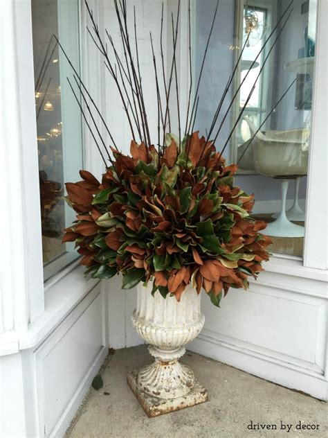 decorating for the season with magnolia leaves driven by