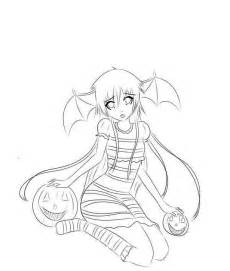Scary Anime Girl Coloring Pages