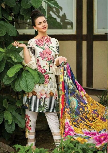 Set Asifa asifa nabeel linen collection 2018 d 03 b