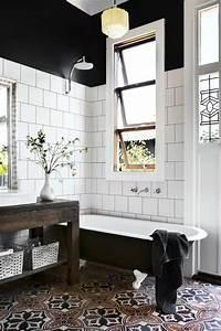 Carreaux Adhesif Salle De Bain : 1001 id es d co de salle de bain r tro ~ Melissatoandfro.com Idées de Décoration