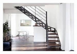 Décoration D Escalier Intérieur : l escalier sculpture vertigineuse int rieur decoration escalier escaliers en acier et ~ Nature-et-papiers.com Idées de Décoration