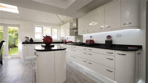 island in the kitchen white gloss kitchen cleveland kitchens liverpool 4823