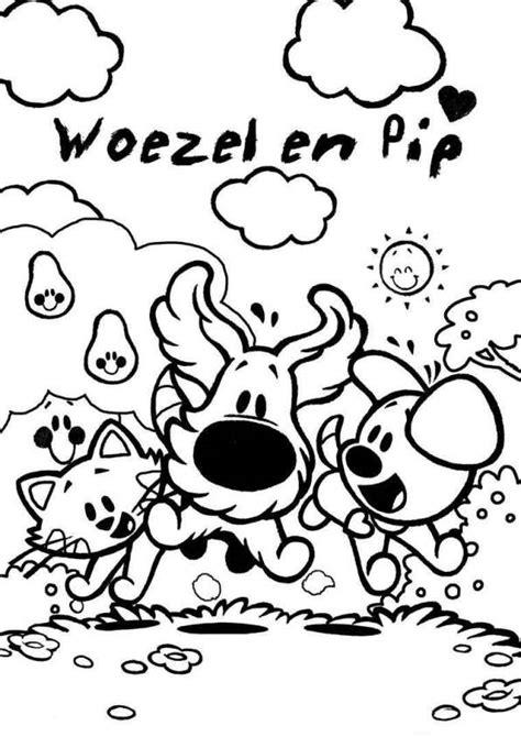 Kleurplaat Woezel En Pip Verjaardag by Woezel En Pip Kleurplaten Topkleurplaat Nl
