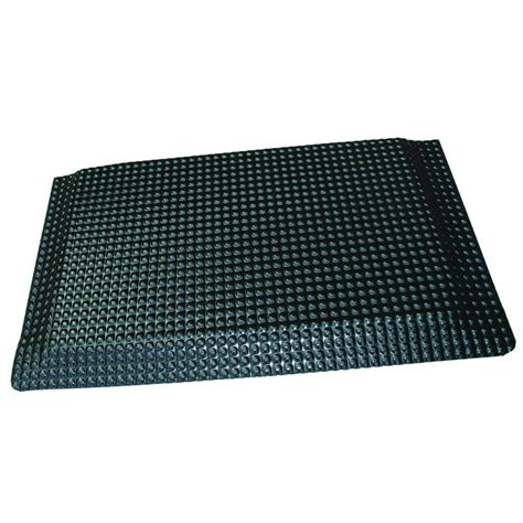 rhino anti fatigue mats reflex glossy black domed surface