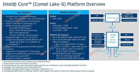intel comet lake s cpu leak suggests early 2020 release eteknix