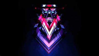 Maller Justin Abstract Neon Graphic Magenta Graphics