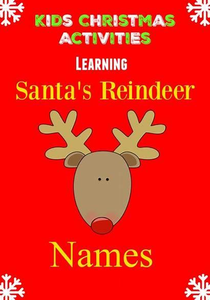 Reindeer Names Santas Santa Sleigh Claus Learning