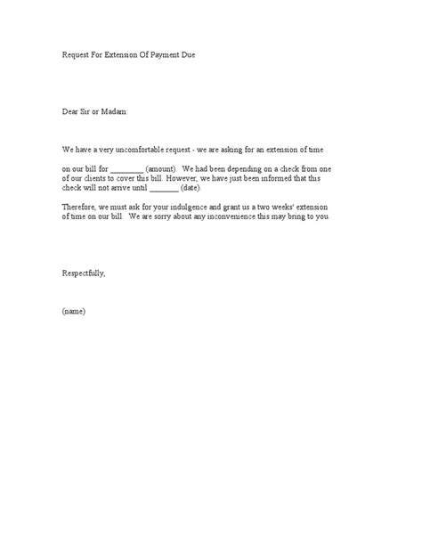 Request Letter Format For Visa Extension - Cover letter