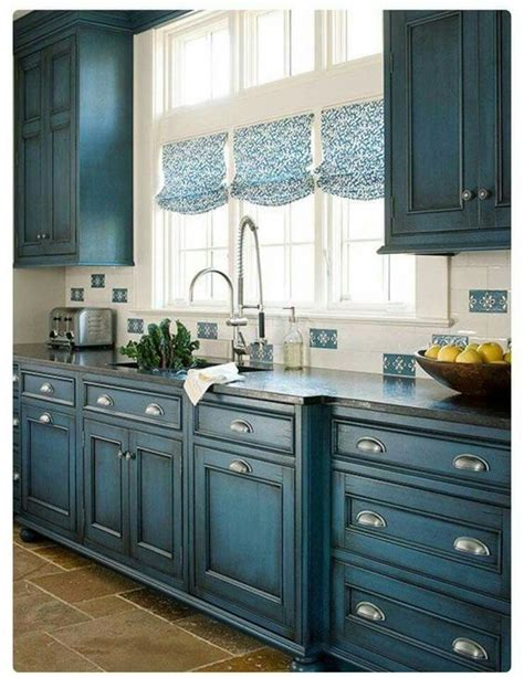 blue kitchen cabinets paint colors 23 gorgeous blue kitchen cabinet ideas decorating ideas