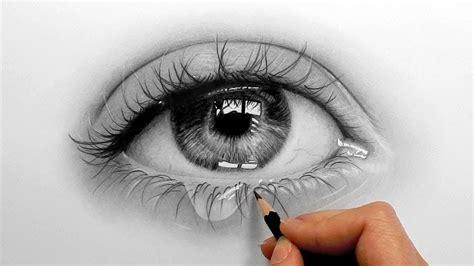 timelapse drawing shading  realistic eye  teardrop