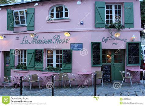 la maison restaurant on montmartre in editorial photo image 48800866