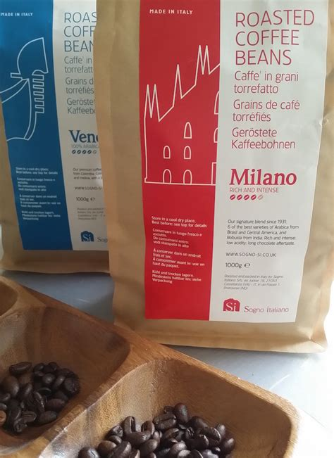 Travel to milan through your palate with tiziano bonini milano coffee beans! Si Coffee MILANO Roasted Whole Coffee Beans Italian Blend, 1kg - Si Coffee