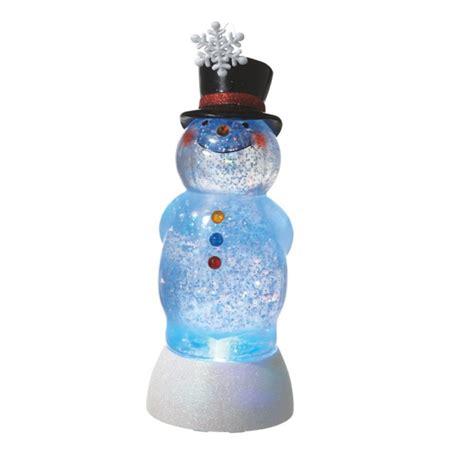 best 28 acrylic snowman figurines electronic led light