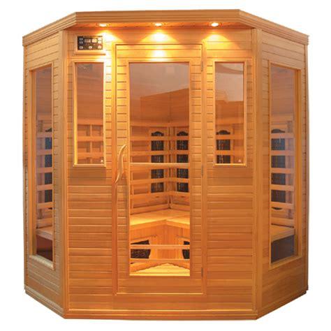 glass  person corner infrared sauna