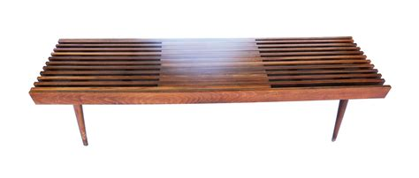 bench coffee table mid century modern expandable slat bench wood