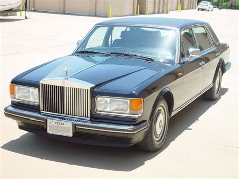 1991 Rolls Royce Silver Spur Ii. Black/red, Texas Car, No