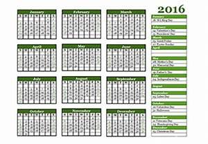 Quarterly Calendar 2015 Printable 2016 Yearly Calendar Template 07 Free Printable Templates