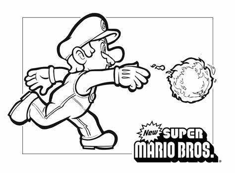 Super smash brothers coloring pages super fun coloring. Mario Coloring pages - Black and white super Mario drawings for you to color in