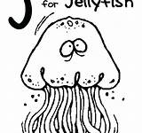 Coloring Pages Jelly Fish Funny Jellyfish Printable Getcolorings Getdrawings sketch template
