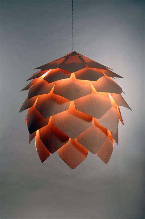 pine cone pendant lamp yanko design