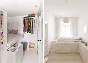 small spaces amenager une petite chambre With amenager une chambre pour 2