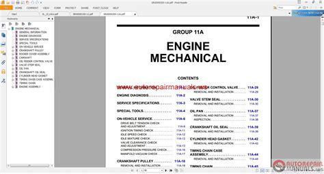 mitsubishi mirage  workshop manual auto repair