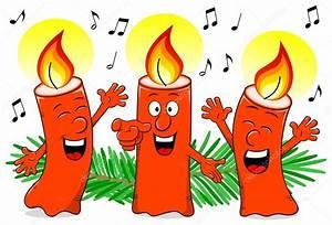 Bougie De Noel Dessin : bougies de no l chantant un chant de no l de dessin anim image vectorielle antimartina ~ Voncanada.com Idées de Décoration