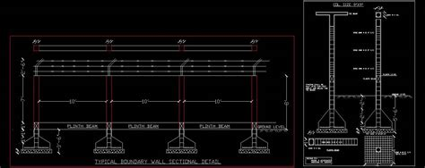 Ideas For Kitchen Walls - boundary wall structure detail plan n design