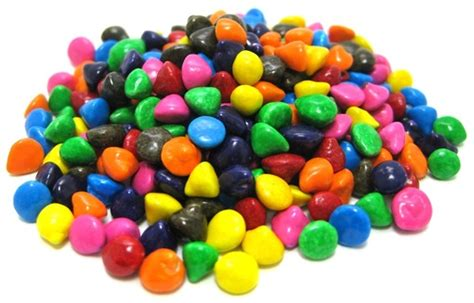 rainbow candy coated chocolate chips chips chocolates