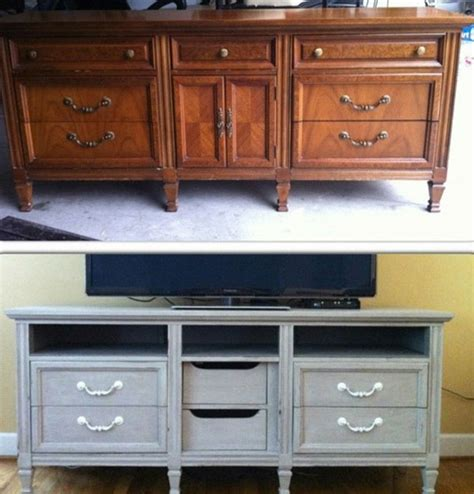 dresser turned into tv stand repurpose furniture how to turn a dresser into a tv stand