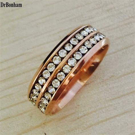 kgf rose gold filled zirconia antique ring set men women