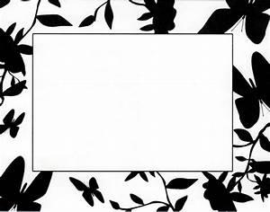 Black And White Flower Border - Clipartion.com