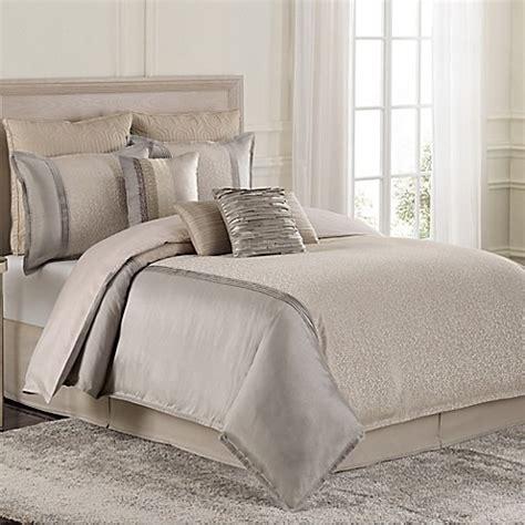 buy raymond waites parker king comforter set in grey tan