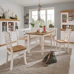 Weiße Stühle Esszimmer : wundersch ne 4 teilige esszimmer sitzgruppe wei im landhausstil bezahlbar und solide eckbank ~ Eleganceandgraceweddings.com Haus und Dekorationen