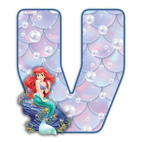 buchstabe letter  mermaid letters disney scrapbook disney coloring pages