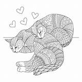 Coloring Cat Cats Printable Mom Purr Tip Vector 30seconds Adults Fect Ages Lovers Sleeping Calico Printables Sketchy Happy Realistic Cheerful sketch template