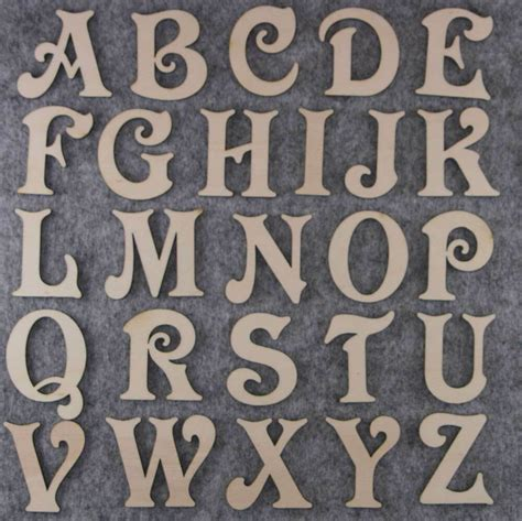 victoria font alphabet set mm  mm plywood capital letters    characters ebay