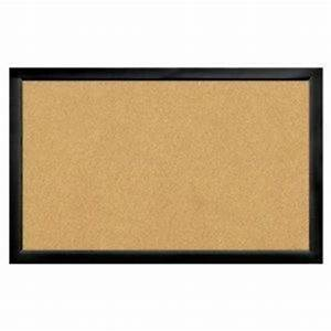 22 x 35 black frame cork bulletin board hides pin holes With home brand letter board
