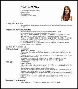 Modelo Curriculum Vitae Administrativa