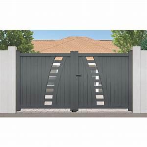Portail Bois 4m : portail aluminium premier prix rayol 2 vantaux ~ Premium-room.com Idées de Décoration