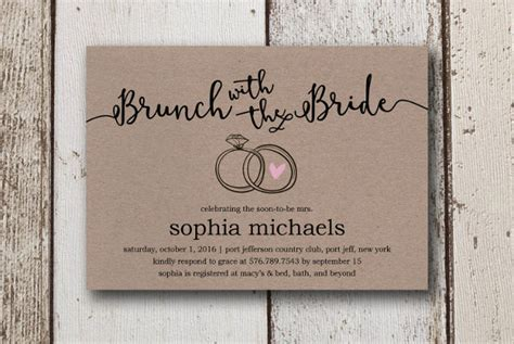 bridal shower invitation examples word psd ai eps