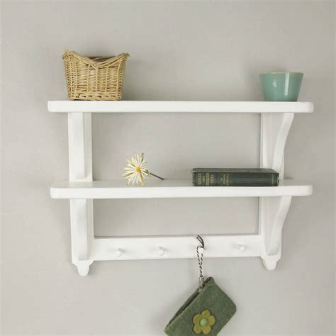 Wall Shelf by Cottage Style Painted Wall Shelf By Seagirl And Magpie